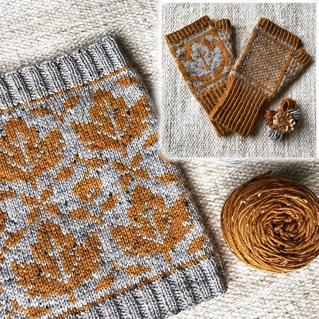 Image of Love Autumn Cowl & Mitts
